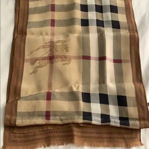 Burberry silk scarf 🧣 58 inches long
